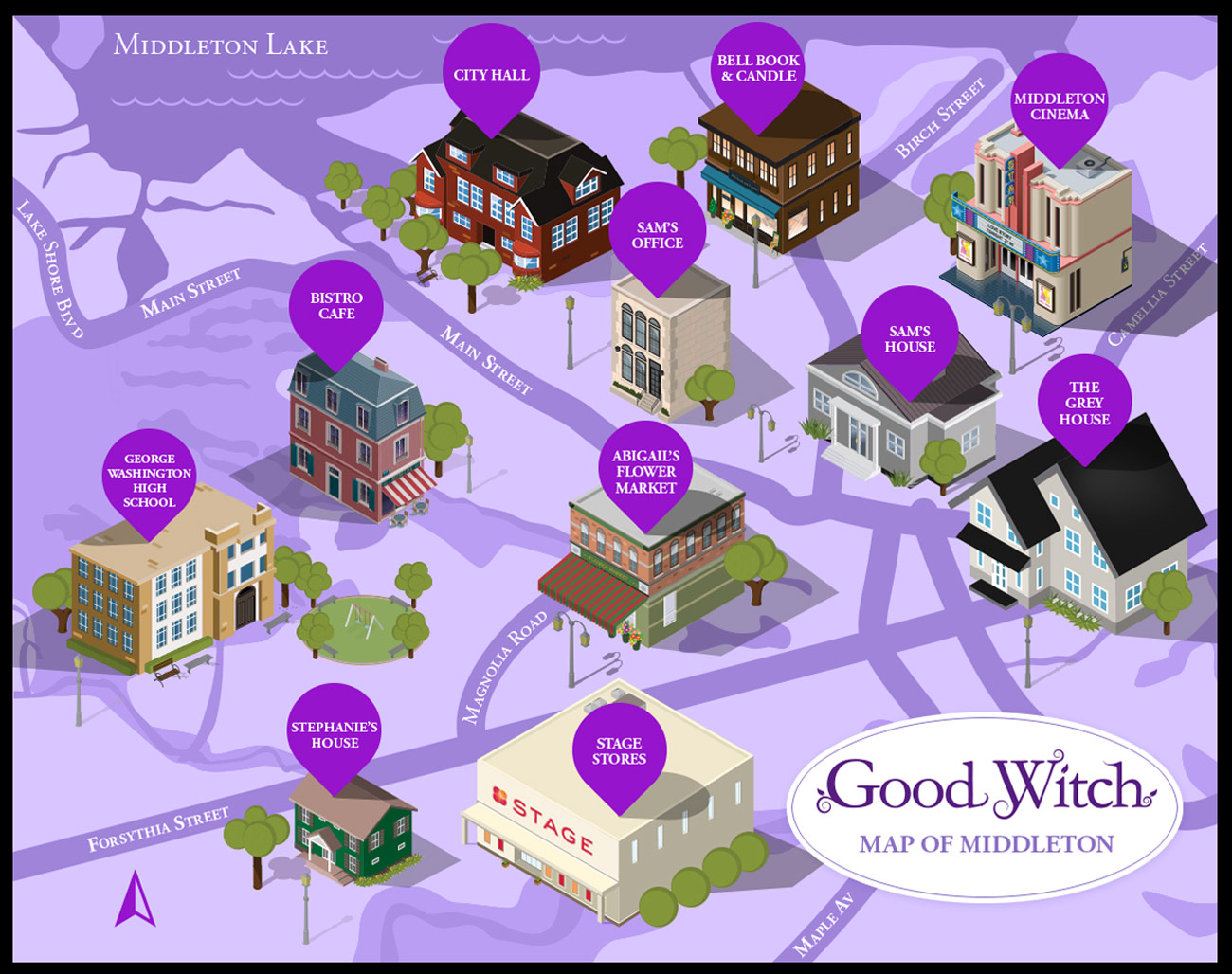 The Map Of Middleton Good Witch Hallmark Channel